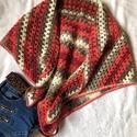 AKCIÓ!!! Batik mohair kendő  , Mohair fonalból horgolt batik meleg könnyű kend...