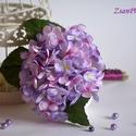 Koszorúslány csokor, Esküvő, Dekoráció, Esküvői csokor, Csokor, Virágkötés, Gyönyörű vintage lila hortenzia csokor. Kis méretét tekintve ajánlom koszorúslányoknak, gyermek cso..., Meska