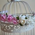 Vintage Hajdísz, Esküvő, Esküvői ékszer, Hajdísz, ruhadísz, Virágkötés, Bájos lányka hajráf, koszorúslánynak, ballagásra bármilyen alkalomra édes romantikus kis fejdísz. A..., Meska