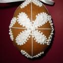 Kicsi térbeli húsvéti tojás  -Virágos 8 x 7 cm, Dekoráció, Húsvéti díszek, Ünnepi dekoráció, Dísz, Mézeskalácssütés, Mézeskalácsból készült húsvéti térbeli tojás. Kiváló húsvéti ajándék  mindenkinek, locsolkodóknak k..., Meska