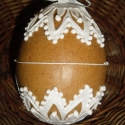 Térbeli húsvéti tojás -Búbvirágos, Dekoráció, Húsvéti apróságok, Dísz, Ünnepi dekoráció, Mézeskalácssütés, Mézeskalácsból készült húsvéti térbeli tojás. Kiváló húsvéti ajándék  mindenkinek, locsolkódoknak k..., Meska