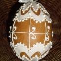 Térbeli húsvéti tojás - Zsuzska, Magyar motívumokkal, Dekoráció, Húsvéti apróságok, Mézeskalácssütés, Mézeskalácsból készült húsvéti térbeli tojás. Kiváló húsvéti ajándék  mindenkinek, locsolkdóknak kü..., Meska