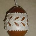 Térbeli húsvéti tojás kicsi, Dekoráció, Magyar motívumokkal, Húsvéti apróságok, Mézeskalácssütés, Mézeskalácsból készült húsvéti térbeli tojás. Kiváló húsvéti ajándék  mindenkinek, locsolkdóknak kü..., Meska