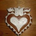 Esküvői vendégajándék- tulipános szív, Esküvő, Magyar motívumokkal, Meghívó, ültetőkártya, köszönőajándék, Esküvői dekoráció, Mézeskalácssütés, Mézeskalácsból készült egyedi tervezésű mintával díszített szív vendégajándék. Kiváló ajándék minde..., Meska