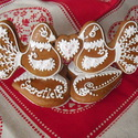 Madaras köszönőajándék térbeli, Esküvő, Magyar motívumokkal, Nászajándék, Esküvői dekoráció, Mézeskalácssütés, Mézeskalácsból készült ajándék.Kiváló köszönő ajándék esküvőre, házassági évfordulóra. Kérésre neve..., Meska