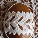Húsvéti tojás mézeskalácsból (kicsi), Dekoráció, Magyar motívumokkal, Húsvéti apróságok, Ünnepi dekoráció, Mézeskalácssütés, Mézeskalácsból készült tojások.  Kiváló húsvéti ajándék  mindenkinek, locsolkodóknak különleges meg..., Meska