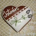Esküvői vendégajándék-szárított levendulával díszített szív, Esküvő, Szerelmeseknek, Meghívó, ültetőkártya, köszönőajándék, Esküvői dekoráció, Mézeskalácsból készült egyedi tervezésű mintával, szárított levendulával díszített szív vendégajándé..., Meska
