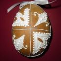 Térbeli húsvéti tojás- Tuli, Dekoráció, Ünnepi dekoráció, Húsvéti apróságok, Mézeskalácssütés, Mézeskalácsból készült húsvéti térbeli tojás. Kiváló húsvéti ajándék  mindenkinek, locsolkodóknak k..., Meska