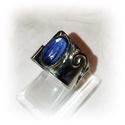 Csodás kékség, Ékszer, Gyűrű, Ékszerkészítés, Ötvös, Ez a csodás modern gyűrű egy kis különlegességet foglal magába. Egy szép kék Kianitot. A gyűrű maga..., Meska