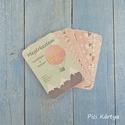 Baba fotó kártya - rózsaszín-szürke csomag (32 db)
