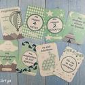 Baba fotó kártya - menta-szürke csomag (32 db), Baba-mama-gyerek, Baba-mama kellék, Fotó, grafika, rajz, illusztráció, Saját szerkesztésű fotó kártyák (milestone card-ok), melyek segíthetnek megörökíteni a babák első é..., Meska