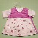 Játékbaba  ruha - kétrészes ( lila ), Baba-mama-gyerek, Játék, Gyerekszoba, Baba játék, Játékbaba  ruha - kétrészes ( lila ): pamut póló és kord szoknya, 33 cm-es játékbabára. , Meska
