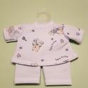 Játékbaba ruha kétrészes, Baba-mama-gyerek, Játék, Gyerekszoba, Baba játék, Játékbaba ruha kétrészes ( kék macis ): anyaga pamut, 33 cm-es játékbabára való., Meska