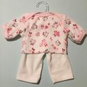 Játékbabaruha: pizsama ( cicás ), Baba-mama-gyerek, Játék, Gyerekszoba, Baba játék, Játékbabaruha: pizsama ( cicás ): pamut anyagból készült 40 cm-es játékbabára, Meska