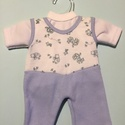 Játékbaba ruha kétrészes ( kék ), Baba-mama-gyerek, Játék, Gyerekszoba, Baba játék, , Meska