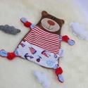 Rongyi - Maci, Baba-mama-gyerek, Játék, Baba-mama kellék, Plüssállat, rongyjáték, Ölelni való kis macikat készítettem, ami elválaszthatatlan társ lehet egy kisbaba számára.  Pihe-puh..., Meska