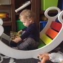 Szivárványhinta, Baba-mama-gyerek, Játék, Gyerekszoba, Készségfejlesztő játék, Remek készségfejlesztő bútordarab gyerekeknek. MA: 42cm SZÉ: 102cm MÉ: 35cm  , Meska