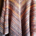 Nyárutó -őszelő poncsó, Nagyon szép szinekkel készült poncso.  Akril +g...