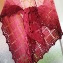 Meggyliget.... kendő, Horgolt kendő, letisztult mintával pamut+akril f...