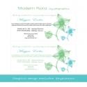 Lánybúcsúra -  Modern Flora  - digitális meghívó design, nyomtatható felbontásban (pilegraphics) - Meska.hu