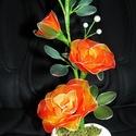 Cserepes rózsa harisnyavirág, Dekoráció, Szerelmeseknek, Ballagás, Húsvéti díszek, Mindenmás, Szeretettel köszöntelek!  Harisnyából készült cserepes rózsa! Tartós, egyedi ajándék névnapra, szül..., Meska
