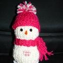 Kötött hóember dekoráció, Dekoráció, Ünnepi dekoráció, Karácsonyi, adventi apróságok, Karácsonyi dekoráció, Szeretettel köszöntelek!  Kedves kötött hóembereket készítettem. Egyenlőre ez a pár db van készen, d..., Meska