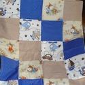 Vékony babatakaró, Baba-mama-gyerek, Baba-mama kellék, Gyerekszoba, Falvédő, takaró, Szeretettel köszöntelek!  Kék-drapp pöttyös és gyerekmintás textilből babatakarót készítettem. Hátol..., Meska