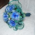 Rózsacsokor harisnyavirág , Dekoráció, Szerelmeseknek, Ünnepi dekoráció, Dísz, Szeretettel köszöntelek!  Harisnyából készült rózsacsokor! Tartós, egyedi ajándék névnapra, szülinap..., Meska