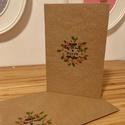 MAGYAL - Karácsonyi képeslap es boríték, Naptár, képeslap, album, Képeslap, levélpapír, Papírművészet, Ha szeretnéd karácsonyi ?dvözleted egyszerű, mégis az ünnephez illő formában Szeretteidhez, Barátai..., Meska