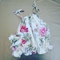 Lányka pizsama, Ruha, divat, cipő, Gyerekruha, Kamasz (10-14 év), Varrás, 10 éveseknek való lányka pizsama. A felsorészt nyári topként is lehet használni.  A vásárlás napján..., Meska