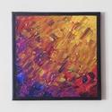 Absztrakt festmény 2., Művészet, Festmény, Akril, Festészet, Absztrakt festmény, amely akrilfestékkel, feszített vászonra készült. Mérete: 24 X 24 cm. A képnek ..., Meska