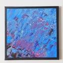 Absztrakt festmény 4., Művészet, Festmény, Akril, Festészet, Absztrakt festmény, amely akrilfestékkel, feszített vászonra készült. Mérete: 24 X 24 cm. A képnek ..., Meska