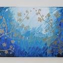 Absztrakt 5., Művészet, Festmény, Akril, Festészet, Absztrakt festmény, amely akrilfestékkel, feszített vászonra készült. Mérete: 20 X 40 cm. A vászon ..., Meska
