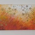 Absztrakt festmény 6., Művészet, Festmény, Akril, Festészet, Absztrakt kép, amely akrilfestékkel, feszített vászonra készült. Mérete: 20 X 60 cm. A vászon fa ke..., Meska