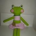 AKCIÓ!Pipitér béka (kicsi), Baba-mama-gyerek, Játék, Játékfigura, Plüssállat, rongyjáték, Egyedi, kézzel és géppel varrt béka. Igazi hurcolhatós, játszó és alvótárs. Szeme gomb, arca rávarrt..., Meska