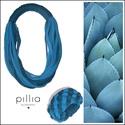 Kék hangulatú SPIRAL textilékszer szett, Ékszer, Ékszerszett, A szett újrahasznosítható, rugalmas textilből készült termék.  A bebújós nyakbavaló hossza (kerülete..., Meska