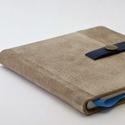 René - notesz, napló, emlékkönyv - drapp velúr bőr 16x16 cm  - 344, Valódi velúr bőr borítású notesz, patent zá...