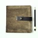 Milton - notesz, napló, emlékkönyv - barna velúr bőr 16x16 cm  - 359