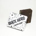 BLACK HERO szappan natúr vegán kézműves frissítő exfoliáló kávés mentás oliva olaj fekete 90g, Szépségápolás, Szappan, tisztálkodószer, Növényi alapanyagú szappan, BLACK HERO Szuper natúr kézműves szappan Válogatott alapanyagokból, simává varázsolja a bőr..., Meska
