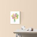 Akvarell art print Peónia virágcsokor - A4-es méret (akvarell festményem alapján), Dekoráció, Képzőművészet, Otthon, lakberendezés, Illusztráció, Akvarell art print Peónia virágcsokor - A4-es méret (akvarell festményem alapján)  Méret: 21 x 29,7 ..., Meska