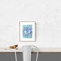 Kövirózsa portré - art print (akvarell festményem alapján), Képzőművészet, Illusztráció, Festmény, Akvarell, Kövirózsa portré - art print (akvarell festményem alapján)  21 x 29,7 cm (A4)  Szépséges kék-zöld ár..., Meska