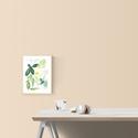 Botanical levél válogatás - art print (akvarell festményem alapján), Képzőművészet, Illusztráció, Festmény, Akvarell, Botanical levél válogatás - art print (akvarell festményem alapján)  Méret: 21 x 29,7 cm (A4)  Zöld ..., Meska