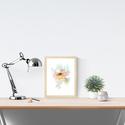 Falikép: Peónia délután akvarell - art print (akvarell festményem alapján), Képzőművészet, Illusztráció, Festmény, Akvarell, Falikép: Peónia délután  akvarell - art print (akvarell festményem alapján)  Méret: 21 x 29,7 cm (A4..., Meska
