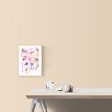 Táncoló virágok - Akvarell virágok és levélkék - virágos poszter, art print, Képzőművészet, Otthon, lakberendezés, Festmény, Akvarell, Táncoló virágok - Akvarell virágok és levélkék - virágos poszter, art print  Art print (akvarell fes..., Meska