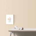Falikép: Rózsaszín és menta harmónia akvarell - art print (akvarell festményem alapján), Képzőművészet, Illusztráció, Festmény, Akvarell, Falikép: Rózsaszín és menta harmónia akvarell - art print (akvarell festményem alapján)  Méret: 21 x..., Meska