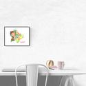 Art print Virágzó Budapest sziluett - A4-es méret (akvarell festményem alapján), Képzőművészet, Illusztráció, Virágzó Budapest sziluett -  akvarell  kép A4-es méret  (akvarell festményem alapján)  Színes és vir..., Meska