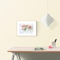Magnólia ágacska - art print (akvarell festményem alapján), Képzőművészet, Otthon, lakberendezés, Dekoráció, Illusztráció, Magnólia ágacska - art print (akvarell festményem alapján)  Méret: A4, 21x 29,7cm   Szépséges pink-f..., Meska
