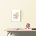 Falikép: Tavaszi kert akvarell - art print (akvarell festményem alapján), Képzőművészet, Illusztráció, Festmény, Akvarell, Falikép: Tavaszi kert  akvarell - art print (akvarell festményem alapján)  Méret: 21 x 29,7 cm (A4) ..., Meska
