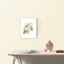 """Akvarell virágok és levélkék - art print (akvarell festményem alapján), Képzőművészet, Illusztráció, Festmény, Akvarell, Akvarell virágok és levélkék - art print (akvarell festményem alapján)   """"Japán kert"""" rózsaszín kert..., Meska"""