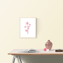 Falikép: Virágszálak akvarell virág és levélkék - art print / virágos poszter / kép, poszter A4es méret, Otthon, lakberendezés, Képzőművészet, Falikép, Falikép: Virágszálak akvarell virág és levélkék - art print / virágos poszter / kép, poszter A4es mé..., Meska